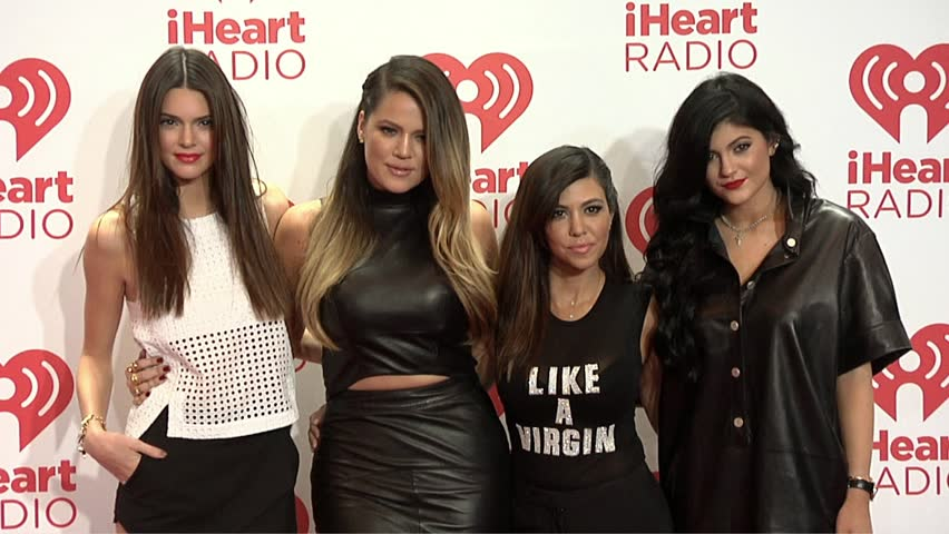 Las Vegas, NV - September 21,2013: Khloe Kardashian and Kourtney Kardashian and Kylie Jenner and Kendall Jenner at iHeartRadio Music Festival 2013, MGM Grand Hotel
