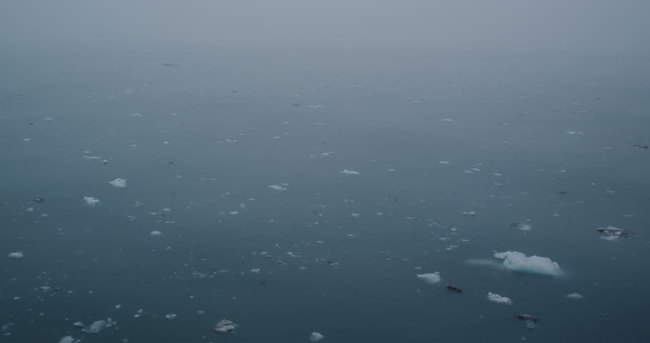 Aerial tracking shot of icebergs | Shutterstock HD Video #9804479