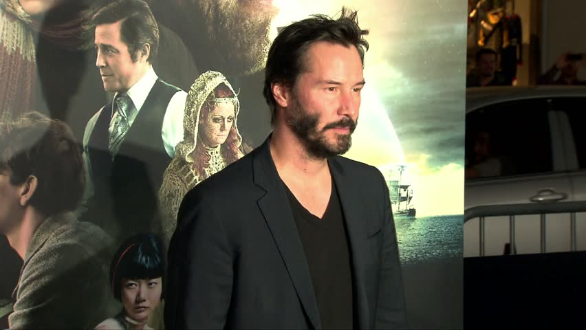 Hollywood, CA - October 24,2012: Keanu Reeves at Cloud Atlas Premiere, Graumans Chinese Theatre