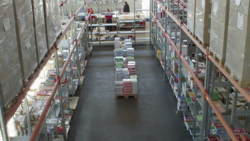 People Working In A Office Supply Warehouse Stock Footage Video 9808919 Shutterstock