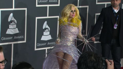 Los Angeles, CA - January 31,2010: Lady Gaga at Grammy Awards 2010, Staples Center