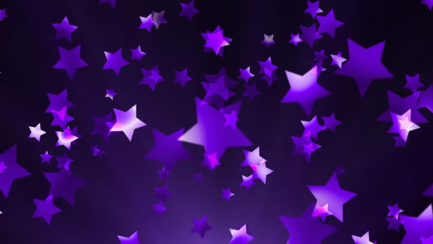Purple and black stars