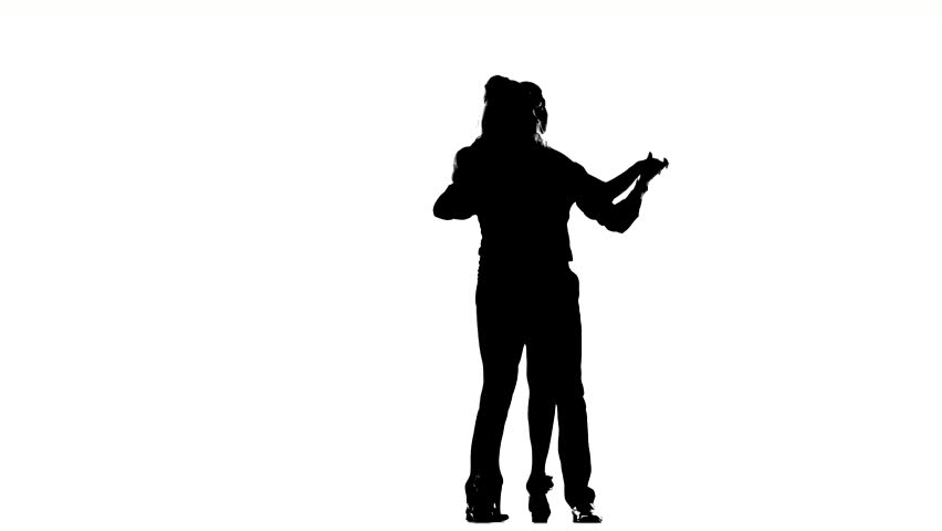 A Silhouette Of A Dancing Man Listening To Music Against A ...