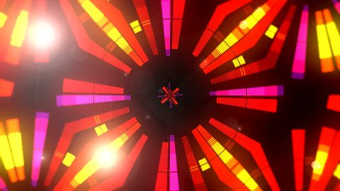 Equalizer Flashing Lights Spotlight Bulb Flood lights Equalizer Display Abstract background animation Equalizer abstract futuristic Blinking Light Motion Graphics Background Backdrop neon seamless art