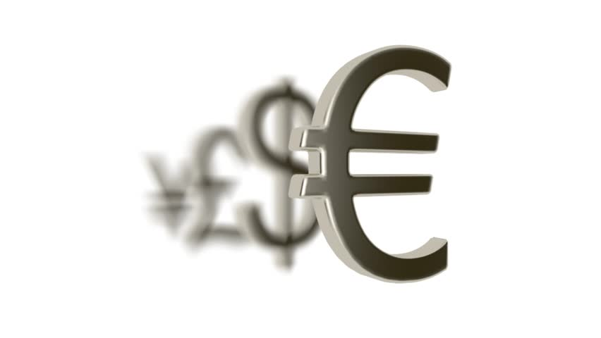 Euro Symbol Breaks The Pound Symbol Stock Footage Video 16354522