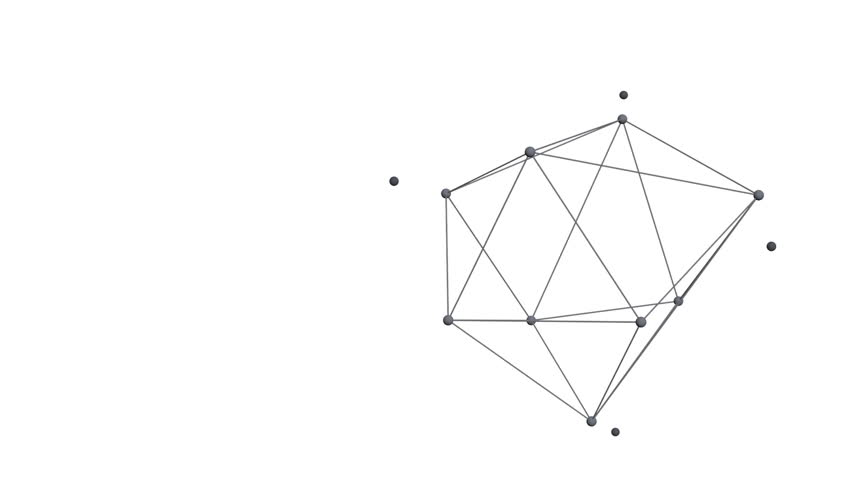 Stable abstract geometric polygonal structure, 3d animation  | Shutterstock HD Video #9900959
