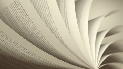 Turning Pages (Loop) English Book. Pages with random English words / sentences.