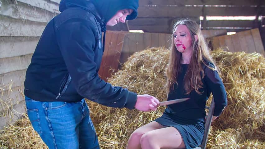 Kidnapper Slapping The Pore Girl Kidnapper Do Not Getting